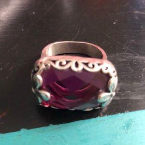 Silpada ...amethyst flower ring ...size 6.